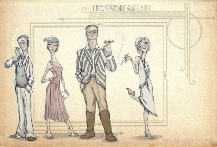 gatsby illustrations - J Shari Ewing