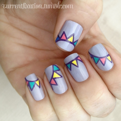 Yes Bunting Nailart!!