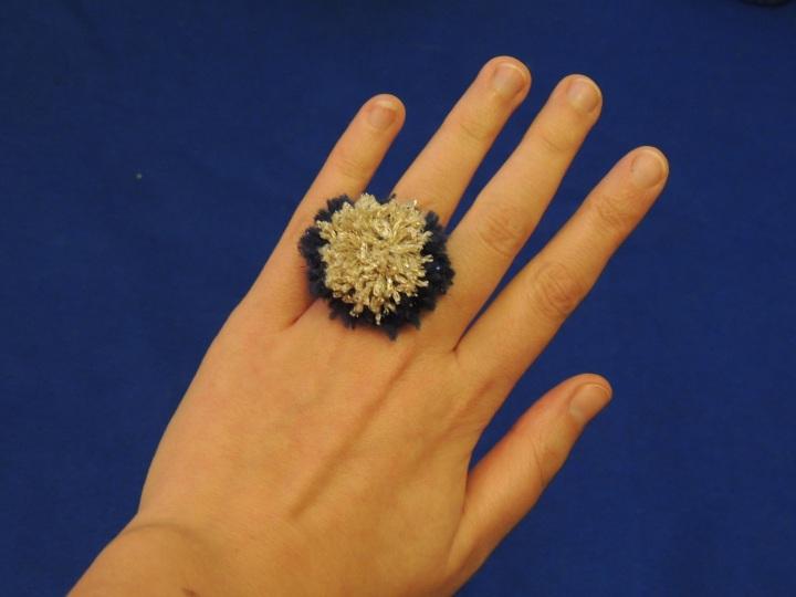 12 days of craftness pompom ring