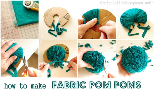 pompom how to from Craftaholics Anonymous