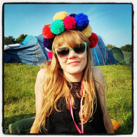 pompom headgear from use it up wear it out