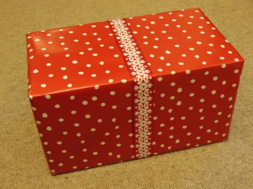 Christmas wrapping crafternoon