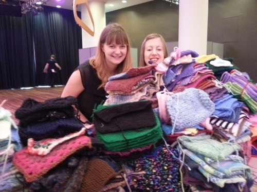 Our mountain of knitting!