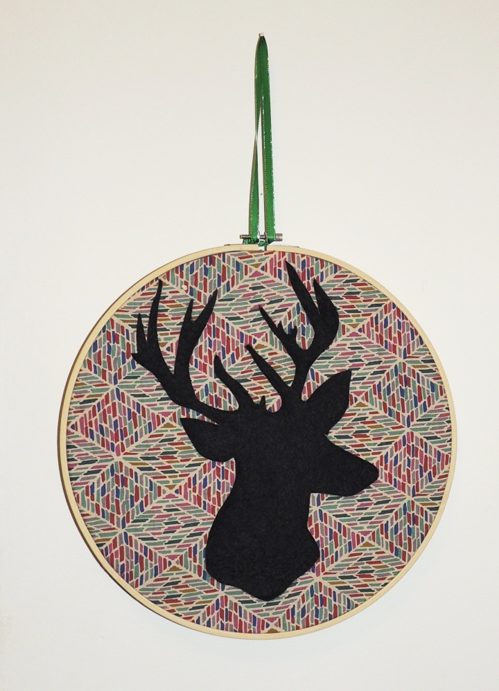 Stag Cameo Wall hanging