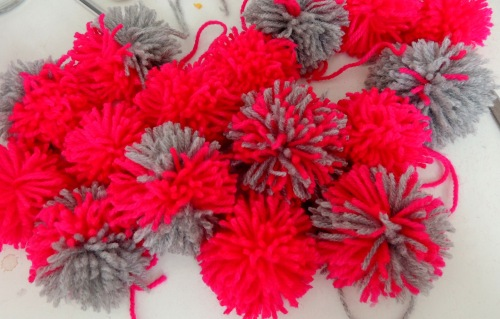 pompom making Crafternoon Cabaret Club