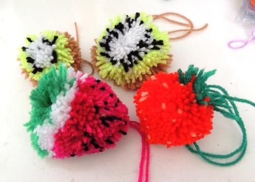 fruity pompoms creativise