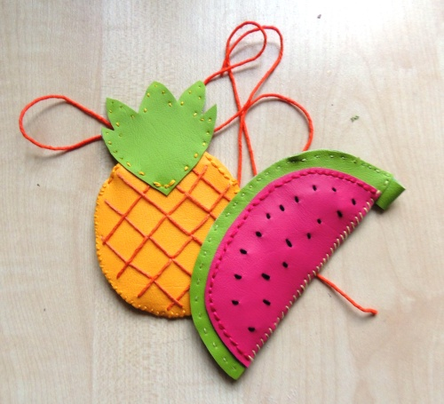 Crafternoon Cabaret Club fruity luggage tags