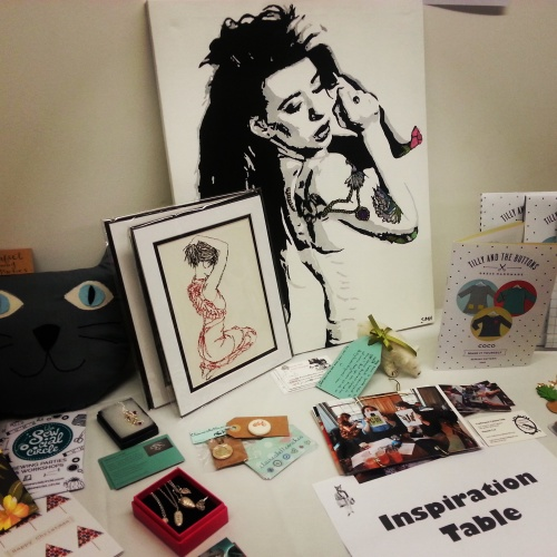Inspiration table at Crafty Fox Talks