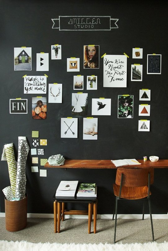 Washi tape gallery hang from Smitten Studio via apartment therapy