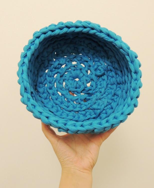 crochet basket textile yarn