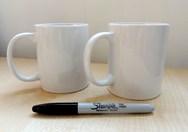 DIY sharpie mugs with crafternoon cabaret club