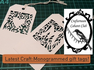 Crafternoon cabaret monogram gift tags