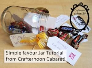 Crafternoon cabaret favour jar tutorial
