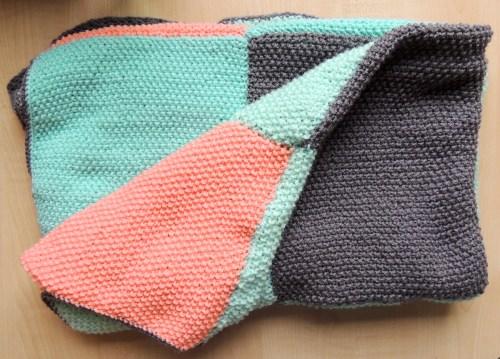 knitted winter blanket
