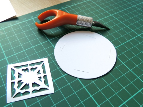 papercut baubles gift tags
