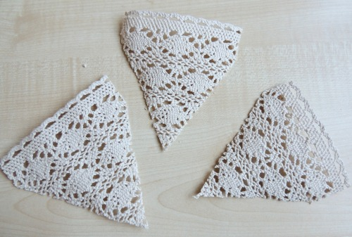 lace bunting triangles