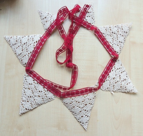 now sew lace bunting - Crafternoon Cabaret Club
