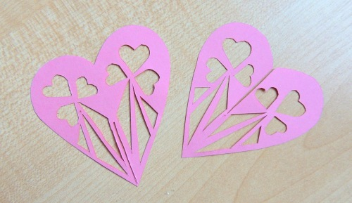 papercutting lovehearts