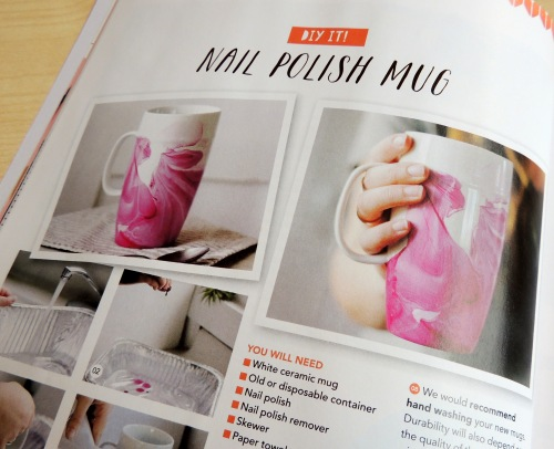 mollie makes nail polish mug