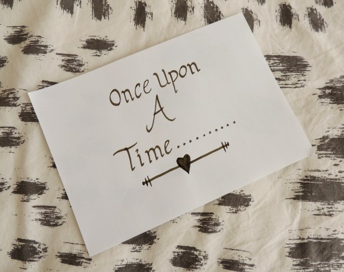 hand lettering once upon a time