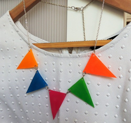 DIY shrinkie bunting necklace crafternoon cabaret club