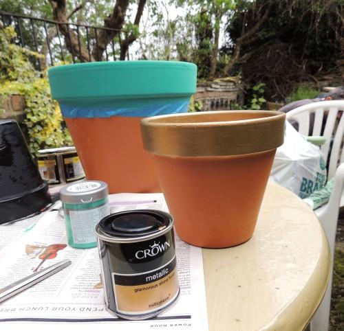 painted flowerpots 2