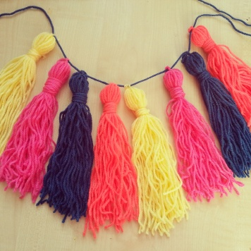100 days of making tassel garland