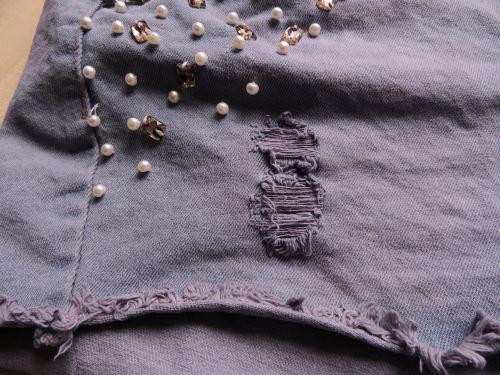 dylon dyes denim shorts makeover