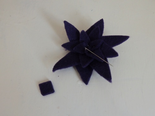 spiky felt flower