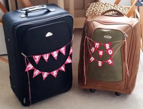 honeymoon luggage bunting