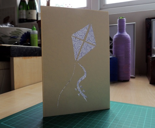 patterned papercut card