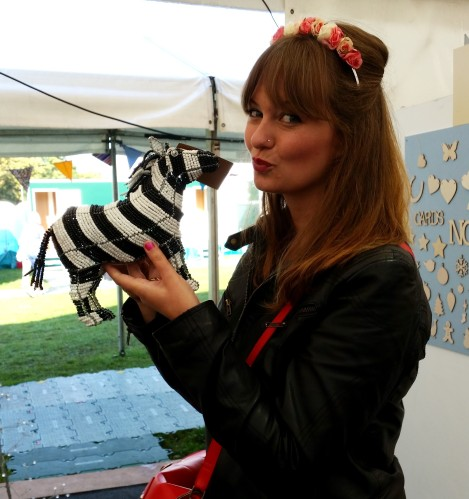BOA design zebra at handmade fair Crafternoon Cabaret Club