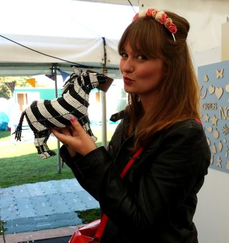 BOA design zebra at handmade fair Crafternoon Cabaret Club