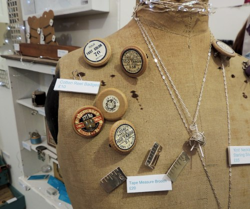haberdashery jewellery at handmade fair Crafternoon Cabaret Club