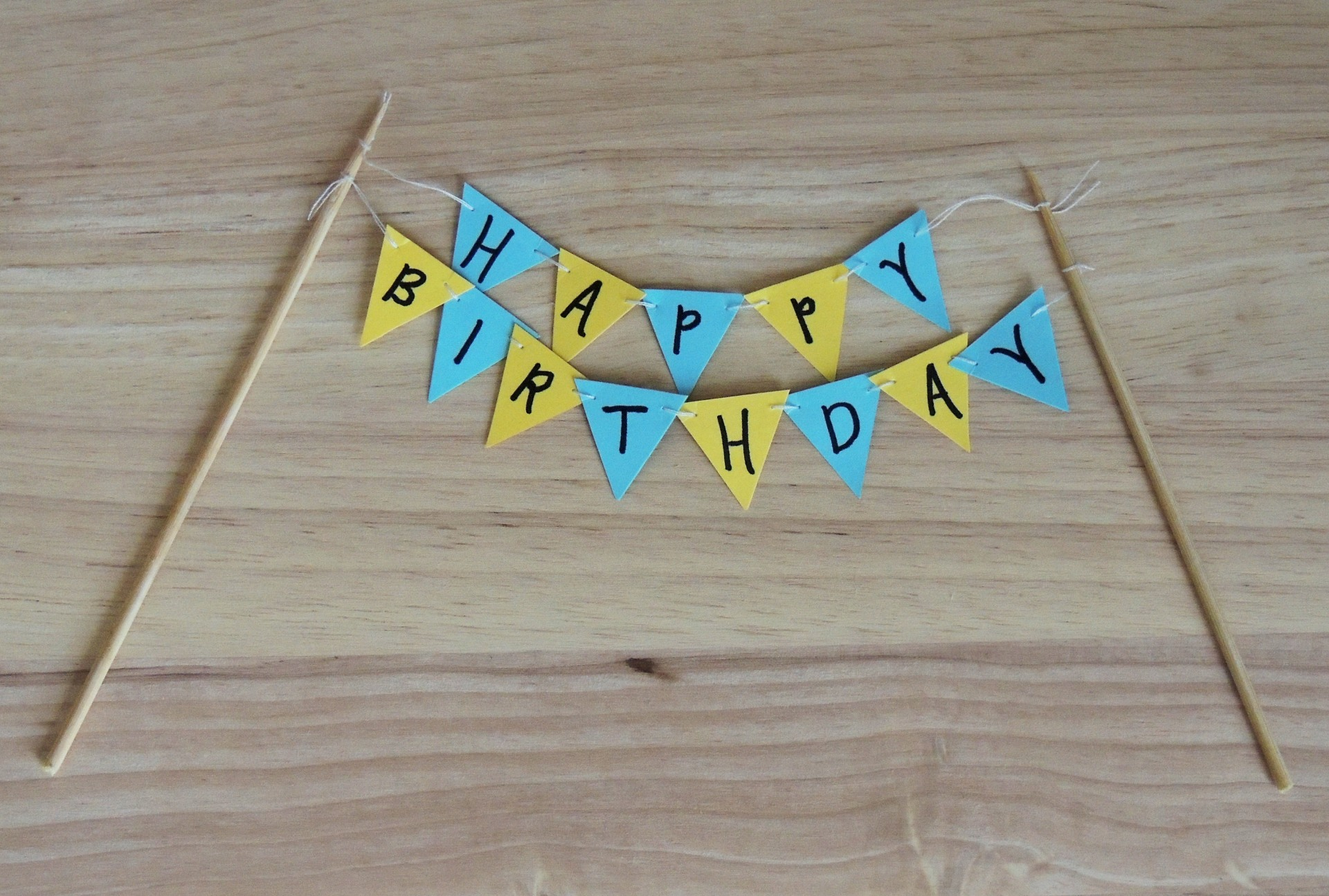 paper bunting cake topper