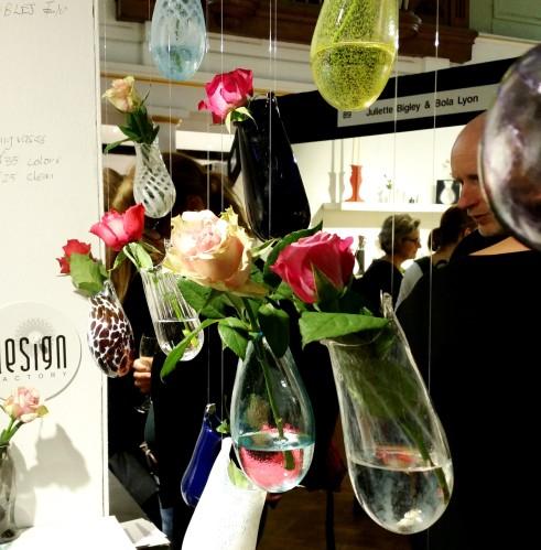 Maggie Williams hanging glass vases