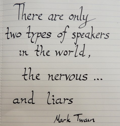 mark twain quote Crafternoon Cabaret Club
