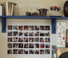 insta wall photo display Crafternoon Cabaret Club