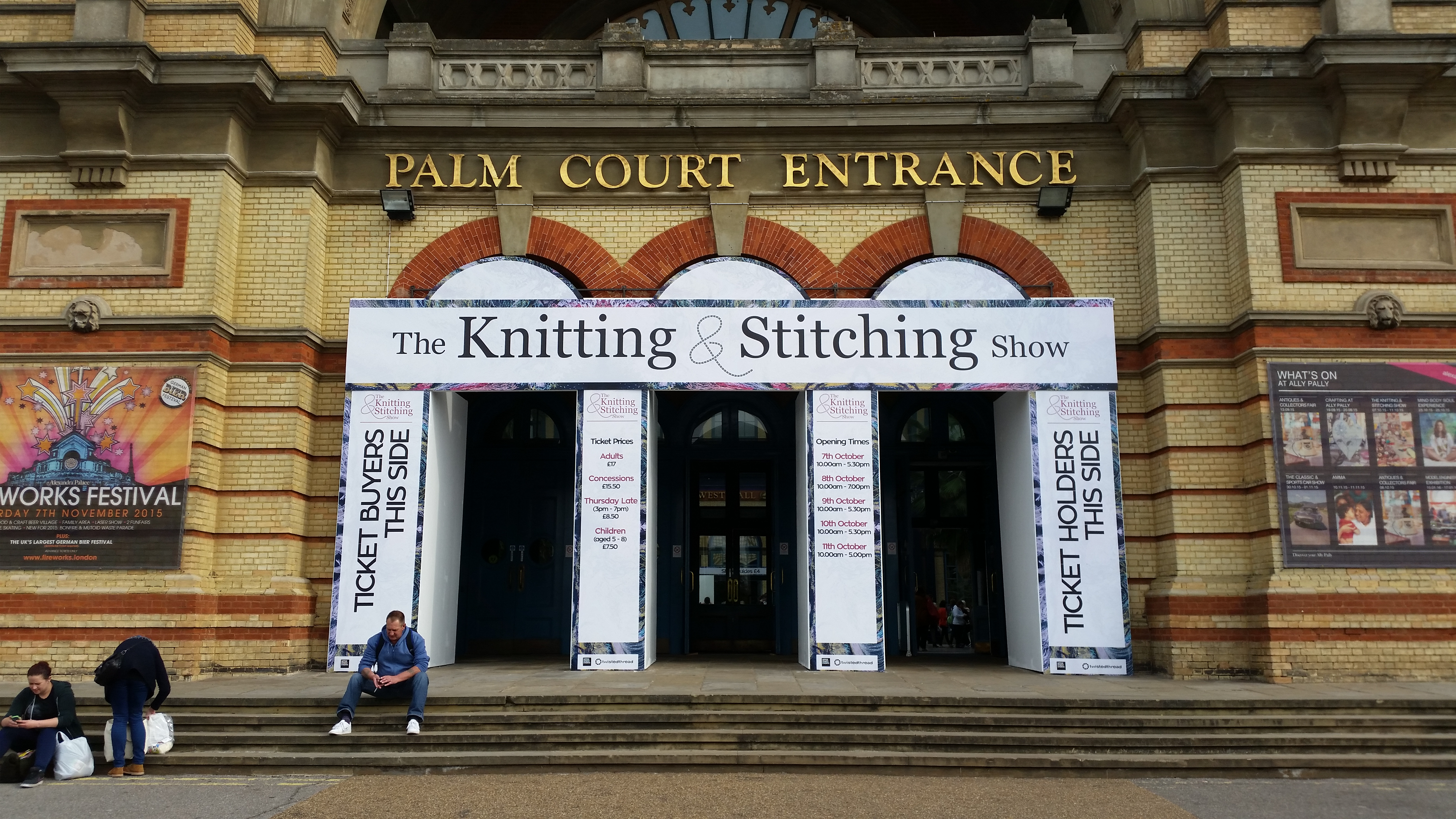 Knitting Club London : A day at the knitting and stitching show crafternoon