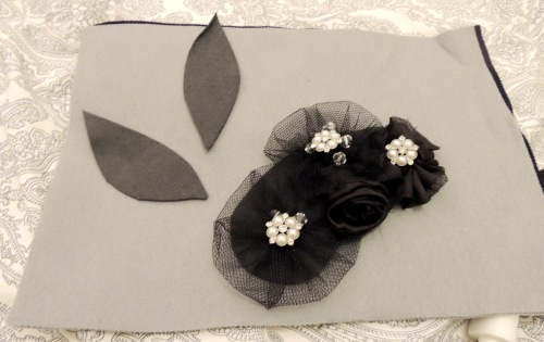 fabric flowers fascinator Crafternoon cabaret club