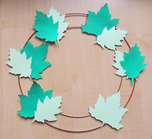 papercut leaf wreath crafternoon cabaret club