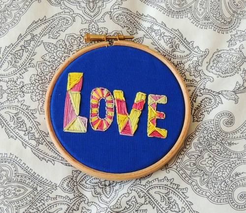 new year embroidery Love
