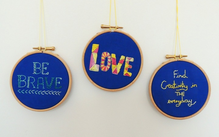 inspirational quotes embroidery in hoops