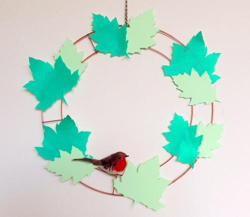 paper leaf wreath crafternoon cabaret club