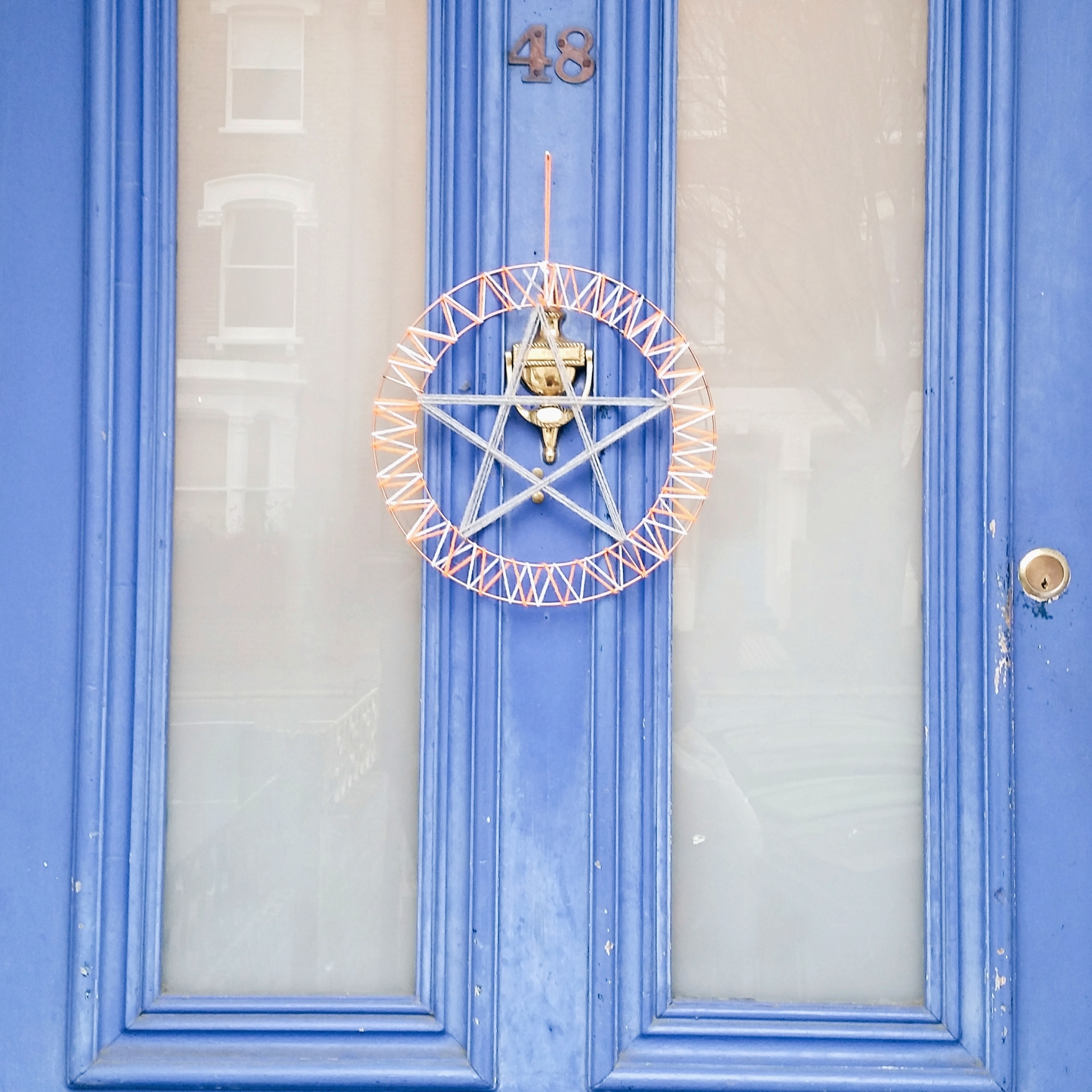 Star wreath on door