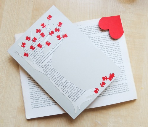book card with heart bookmark Crafternoon Cabaret Club
