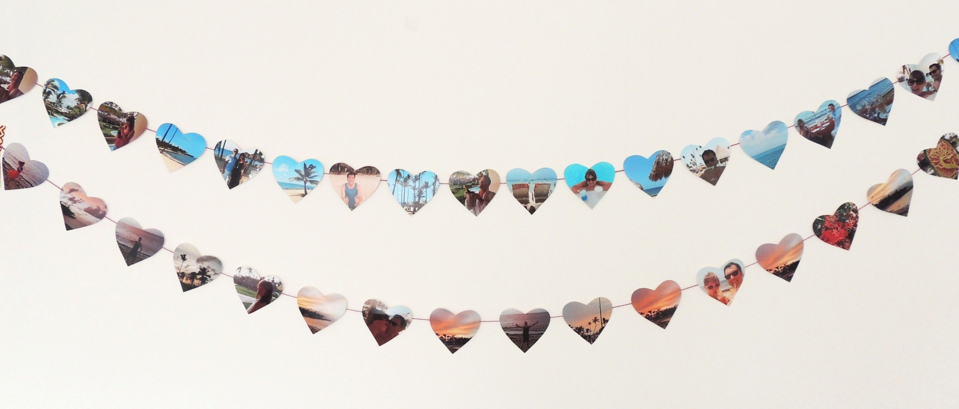 heart shaped photo bunting