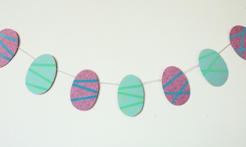 paper easter egg garland Crafternoon Cabaret Club