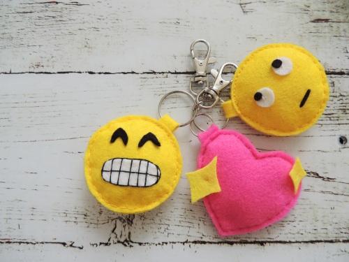 felt emoji keyrings Crafternoon Cabaret Club